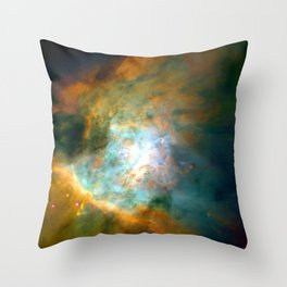 Space Fog Throw Pillow