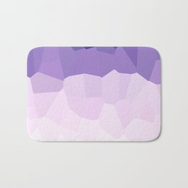 Purple Watercolor Crystals Bath Mat