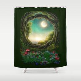 Enchanted Moon Tree Shower Curtain