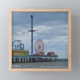 Pleasure Pier - Galveston Texas Framed Mini Art Print
