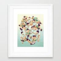 viria Framed Art Prints featuring Aobajousai by viria