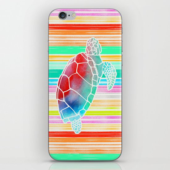 Turtle Collage by Garima and Jacqueline iPhone & iPod Skin