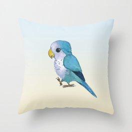 very cute blue quaker parrot Throw Pillow