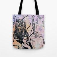 women Tote Bags featuring women by Bunny Noir