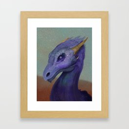 Pearl Eye Dragon Framed Art Print