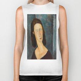 """Amedeo Modigliani """"Blue Eyes (Portrait of Jeanne Hébuterne) (1917)"""" Biker Tank"""