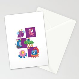 Six Silly Little Monsters Stationery Cards