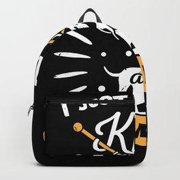 Knitting Knitter Dog Lover Gift Backpack