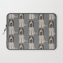 Cute Briard Cartoon Dog Laptop Sleeve