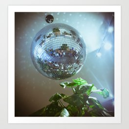 Disco Ball Plant Art Print