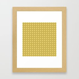 Just white chocolate / 3D render of white chocolate Framed Art Print