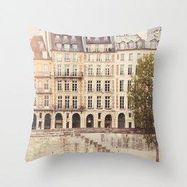 Paris Seine Throw Pillow