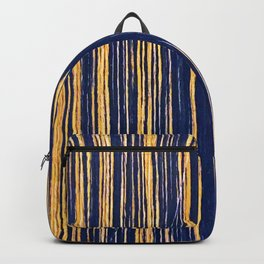 Vertical Scratches on Royal Purple Metal Texture Backpack