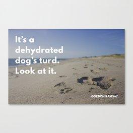 Ramsay Says - Dog Turd Canvas Print