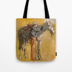 Cowboy: Study for Cowboys in the Badlands, 1887 Tote Bag