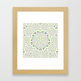 Yellow, Green, Purple Kaleidoscope Framed Art Print