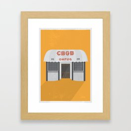 Punk Rock Saved My Life // CBGB omfug // New York Framed Art Print