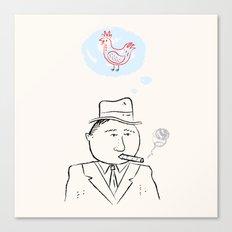 Al Capone remembers his favourite chicken. Canvas Print