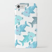 shark iPhone & iPod Cases featuring Shark by Michelle McCammon