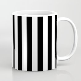 Abstract Black and White Vertical Stripe Lines 12 Coffee Mug
