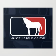 Major League of Evil Canvas Print