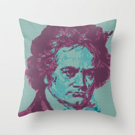 Roll Over Beethoven Throw Pillow