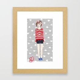 Hearts Framed Art Print
