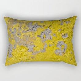 Yellow Peeling Paint on Concrete 1 Rectangular Pillow