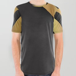 Back and gold geometric design All Over Graphic Tee