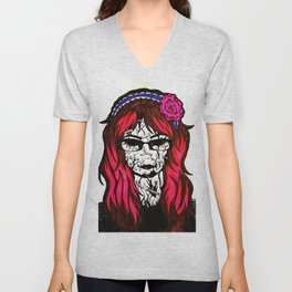 My Cracked Mask Unisex V-Neck