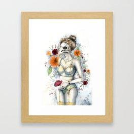 Blumenmädchen Framed Art Print