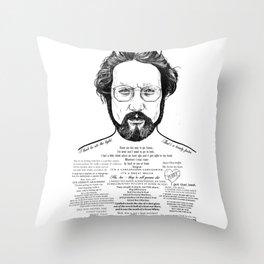 Jaws Dr Hooper Ink'd Series Throw Pillow