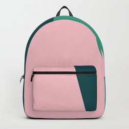 Geometric design in pink & green Backpack