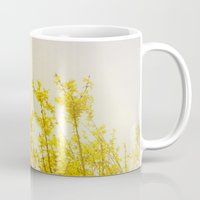 coldplay Mugs featuring And it Was All Yellow by Olivia Joy StClaire