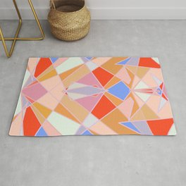 Flat Geometric no.35 Shapes and Layers Rug
