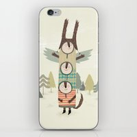 totem iPhone & iPod Skins featuring totem by kate hindley