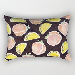 Peach & Taco Rectangular Pillow