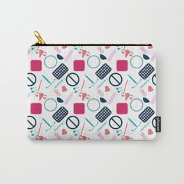 Contraception Pattern Carry-All Pouch