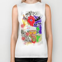 fear and loathing Biker Tanks featuring GONZO Fear and Loathing Print by Just Bailey Designs .com