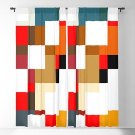 Shahbaz - Colorful Decorative Abstract Art Pattern Blackout Curtain