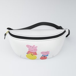 Peppa and George on space hoppers Fanny Pack