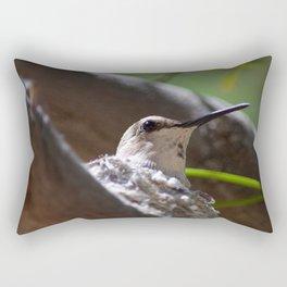 Hummingbird Momma Rectangular Pillow