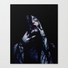 Tendrils - Emotive Self Portrait - long hair woman sensual Canvas Print