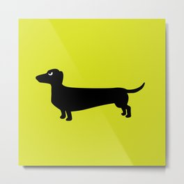 Angry Animals: Dachshund Metal Print