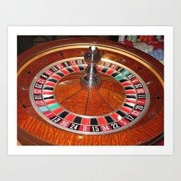 Roulette wheel casino gaming design Kunstdrucke