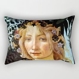 "Sandro Botticelli ""Primavera"" Flora Rectangular Pillow"