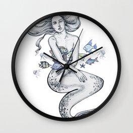 Gorgeous merwoman Wall Clock