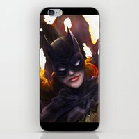 batgirl iPhone & iPod Skins featuring Batgirl by Nicole M Ales