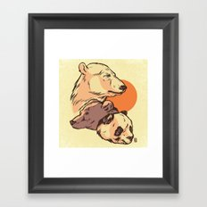 We Bare Bears Framed Art Print
