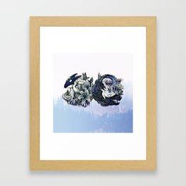 Wolf and Lamb (Kindred) - Light Framed Art Print